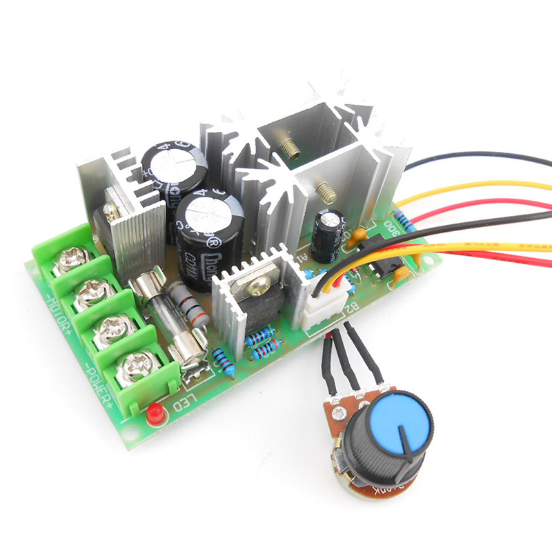 DC10-60V DC 10-60V Motor Speed Control PWM Motor Speed Controller Switch 20A Current Voltage Regulator High Power Drive Module