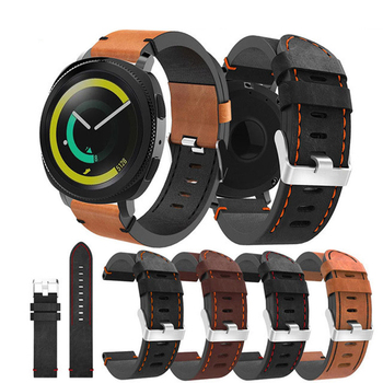 20mm leather strap For Samsung Gear S2 sport watch 42mm bracelet 20mm For Samsung  galaxy watch active 42mm watchband accessorie 20mm luxury leather strap for samsung gear sport s2 watch band classic frontier wristband for samsung galaxy 42mm bracelet strap