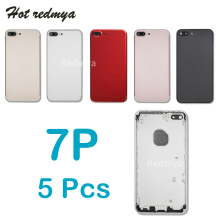 цены Full Housing Cover For iPhone 7 7 Plus Metal Battery Back Case Door Rear Cover Housing Case Chassis Frame Replacement Free IMEI