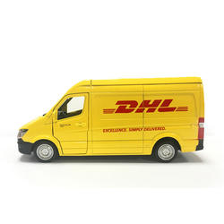 Грузовик Dhl 1:36 моделирование игрушечный автомобиль Сплав Вытяните назад мини автомобиль Реплика Авторизованная оригинальная модель
