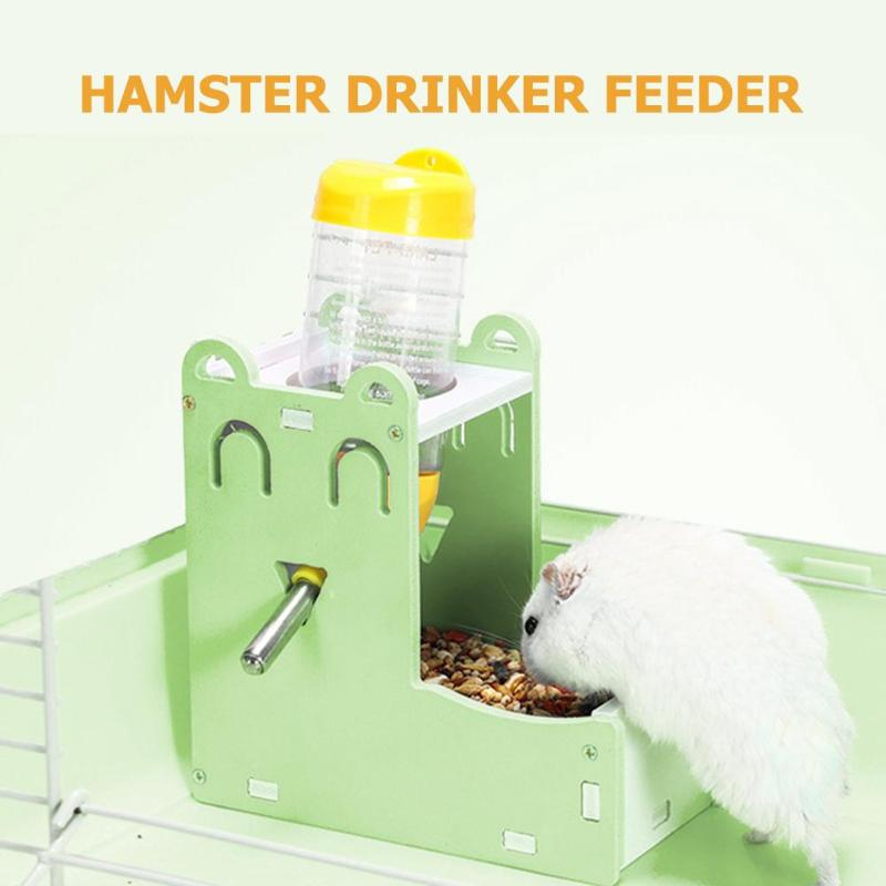 Hamster Automatic Water Fountain Drinker Food Feeder For Hamster Cute Mini Water Feeder Food Bowl Pet Supplies