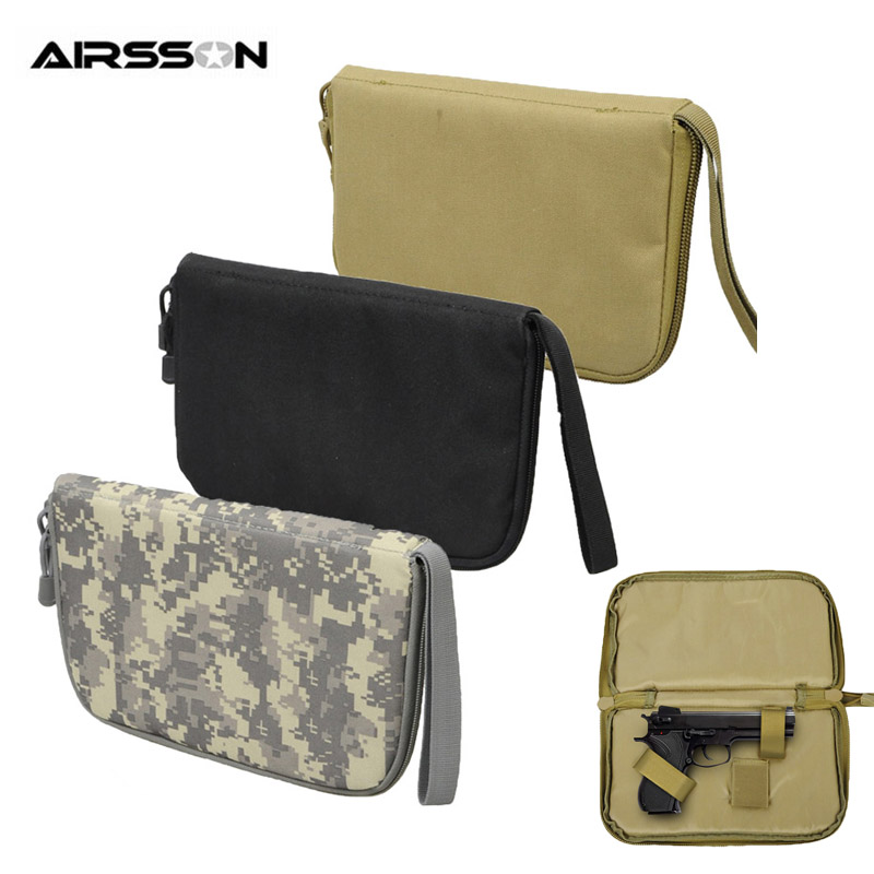 Tactical Pistol Carry Bag Gun Case Portable Holster Military Handgun Carrier Pouch Soft Protection Gun Accessories For Hunting