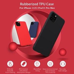 Image 1 - Nillkin capa para iphone 11 pro max caso de borracha envolvido tpu caso protetor do telefone capa traseira para iphone 11 pro para iphone11 caso