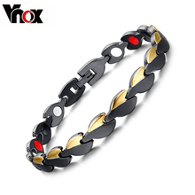 Vnox Women's Healthy Bracelets Bangles Power Free Length Adjust Tool