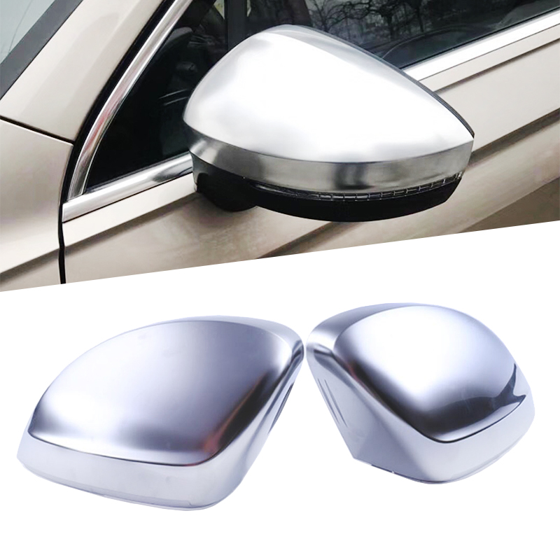 Car Replace Rearview Side Wing Mirror Cover for VW Volkswagen Tiguan 2017 ABS