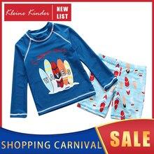 בגדי ים לילדים ארוך שרוולים ילדים של בגד ים UPF50 שמש הגנה Rashguard ילד חוף אמבט בגדי חליפת שחייה לילדים
