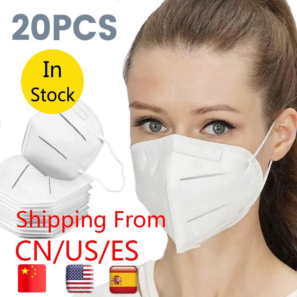 10PCS N95 Mask KN95 Antivirus Respirator Mask Anti Fog Anti Dust Prevention Smog Prevention Masks Masque In Stock