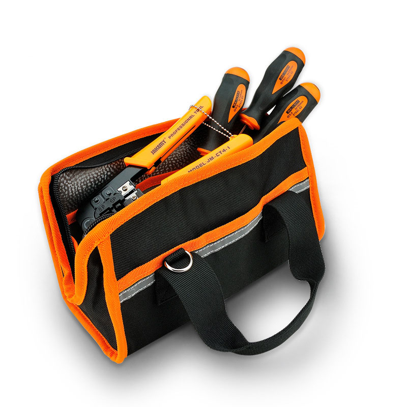 Large Capacity Tool Bag Carpenter Rig Hammer Waist Canvas Tool Bag Multi-Pockets Electrician Holder Portable Working Equipment