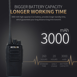 Image 3 - 10W Powerful Walkie Talkie Retevis RT1 VHF (or UHF) VOX 3000mAh Long Range Two way Radio For Factory Warehouse Farm Security