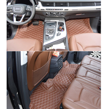 lsrtw2017 leather car floor mats for audi Q7 Q8 2020 2016 2017 2018 2019 2015 interior accessories auto parts cover foot for audi q7 2015 2019 rubber floor mats into saloon 5 pcs set seintex 86854