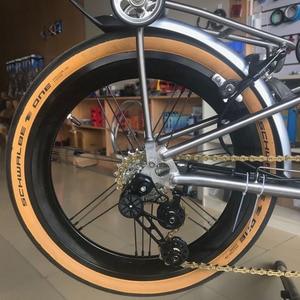 "Image 5 - Bike Alloy Wheelset 1 3/4 Speed 16 x1 3/8"" 349 Width 40mm Rim 14H/21H For Brompton 3sixty Ultralight Folding Bike Wheelset 1176g"