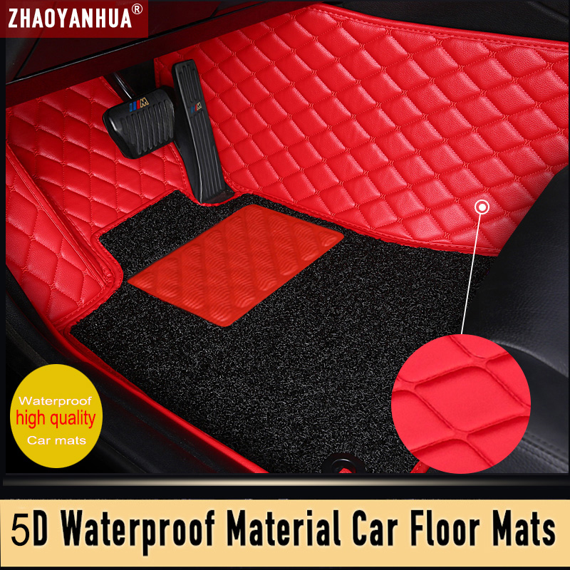 Latest model Waterproof Leather car floor mats for lincoln navigator chery tiggo t11 <font><b>peugeot</b></font> <font><b>5008</b></font> <font><b>2010</b></font> car ковер car accessories image