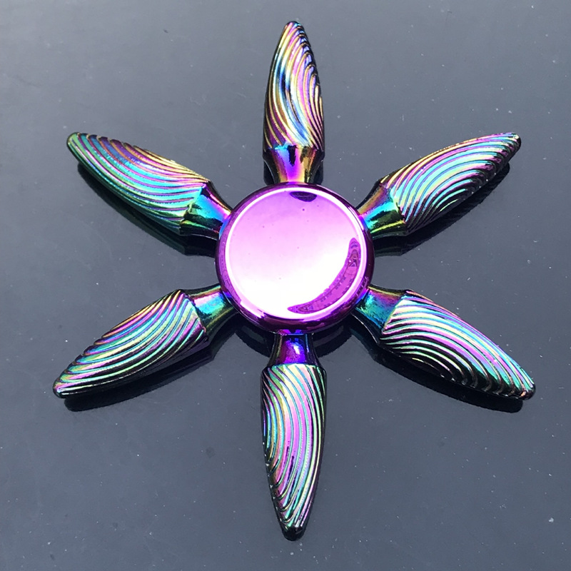 1 Pieces Tri Spinner Model 60-65MM Finger Spinner Anxiety Relief Stress Finger Gyro R188 Bearing Spider Metal Hand Spinner