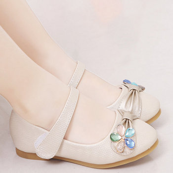 2020 New Spring Autumn Children Kids Girls Princess Shoes Leather Shoes Flat soft Girls Sandals Dress Kids Leather Glitter Shoes abckids new spring autumn girls soft leather shoes children girls princess bowknot sneakers single shoes kids dance shoes rubber