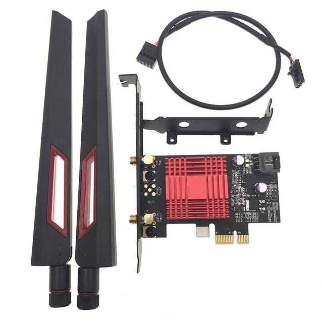 Беспроводная настольная карта для Intel AX200 AX200NGW 1730 Мбит/с NGFF M.2 Bluetooth 5,0 Двухдиапазонная Wi Fi сетевая карта 802.11AC/AX