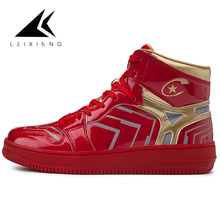 2019 New Style Marvel Red Skateboard Shoes Men Scarpe Air J 1 Avegers High Top Sport Skate Sneakers Homme Chaussure