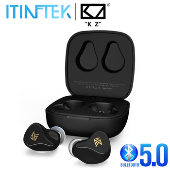 New KZ Z1 TWS True Wireless Bluetooth 5.0 Sport Earbuds Dual Magnetic Dynamic Gaming Earphones Touch Control Noise Cancelling