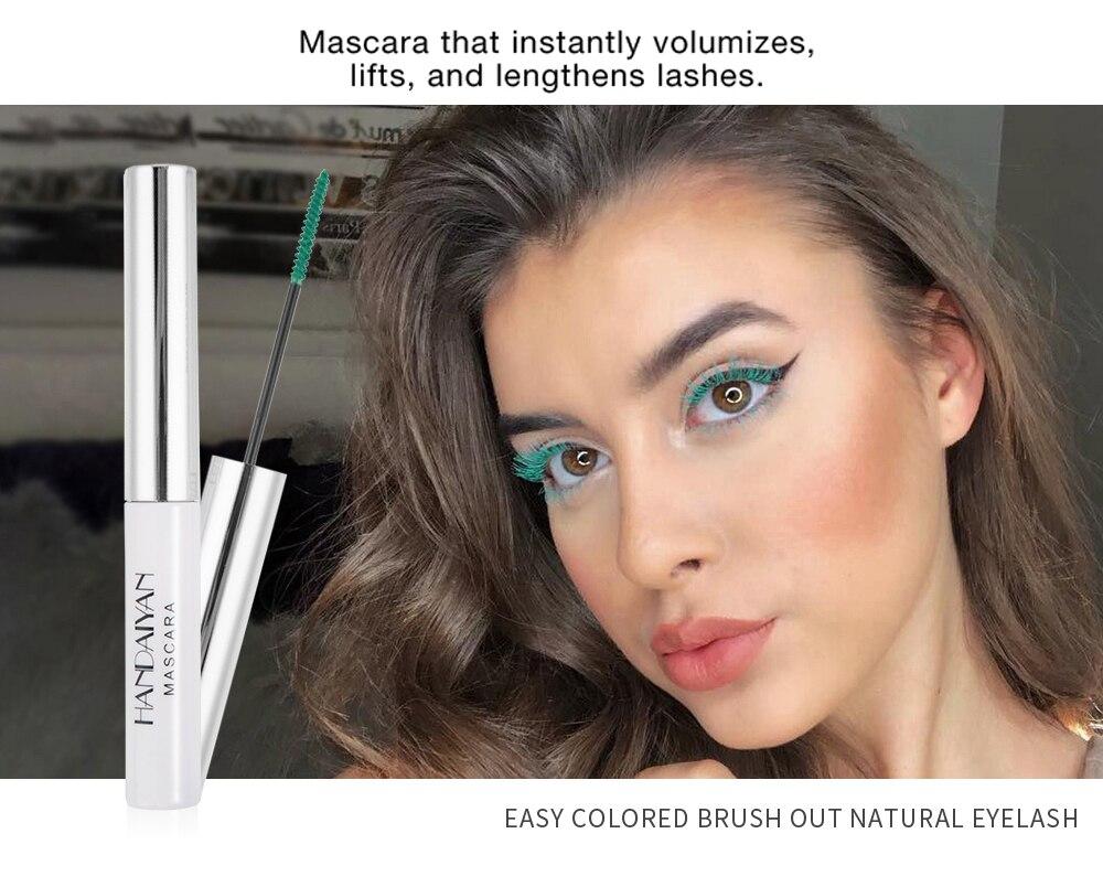 Цветная тушь водостойкие ресницы, Подкручивающая, удлиняющая, густой объем, макияж, ресницы для глаз, быстро сохнут, стойкий макияж для красоты