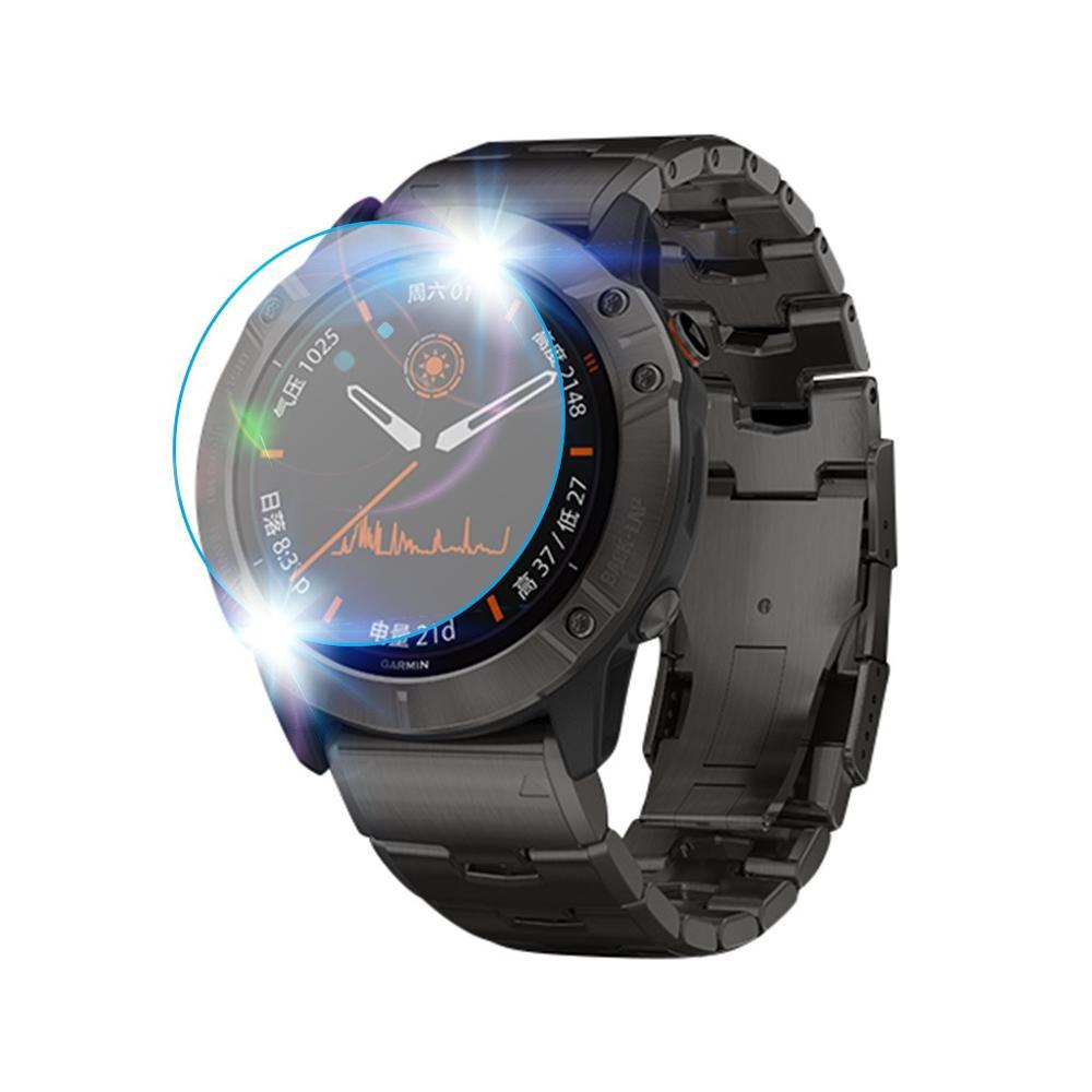 Image 5 - 3Pcs Smart Watch Protective Film For Garmin Fenix 5 5s Plus 6S 6 6X Pro Round Edges Tempered Glass film Premium Screen ProtectorWatch Screen Protectors   -