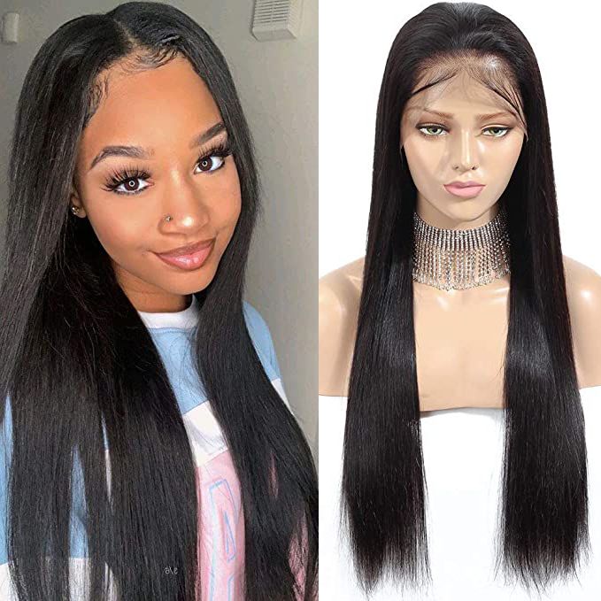 Human Hair 13x6 Lace Front Wigs Remy Hair Silky long Straight Brazilian Human Hair For Black Women Natural Color Swetcurly