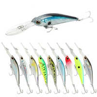 Scuba Bass Lure Baino Mino 5.6g / 9.3cm Deep Diving Suspension Hover Slow Down 0-3.5 Meters Stream Fox  Soft Plastic Lures