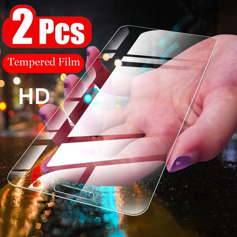 2Pcs HD Tempered Glass For LG Q60 Q70 Q6 Q7 Q8 Q9 Screen Protector Film For LG G6 G7 K50 K8 K10 2017 2018 Protective Glass Case
