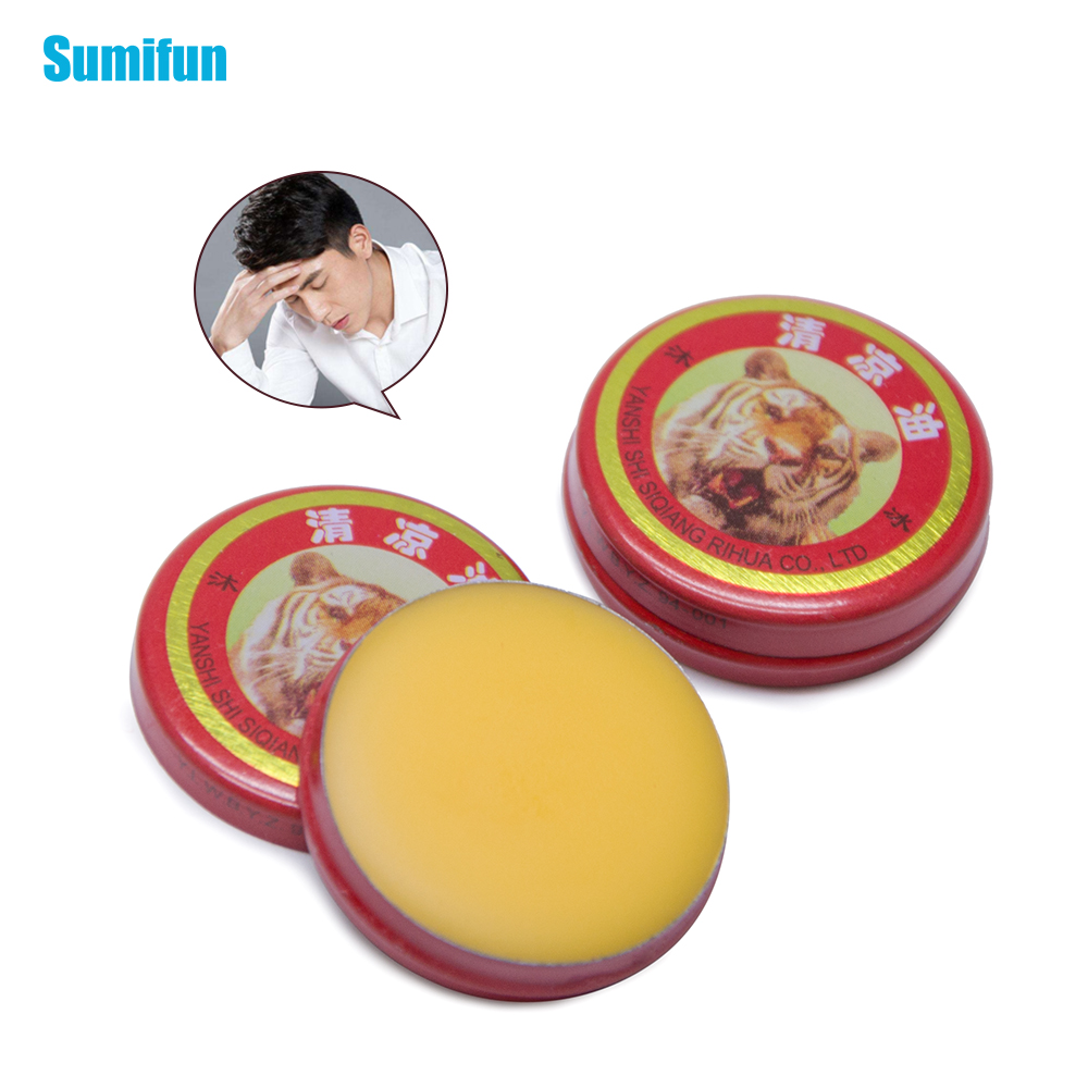 Sumifun 5pcs/10pcs Red Tiger Balm Ointment Essential Cooling Oil Refresh Bad Smell Cream Ointment For Cold Headache Dizziness