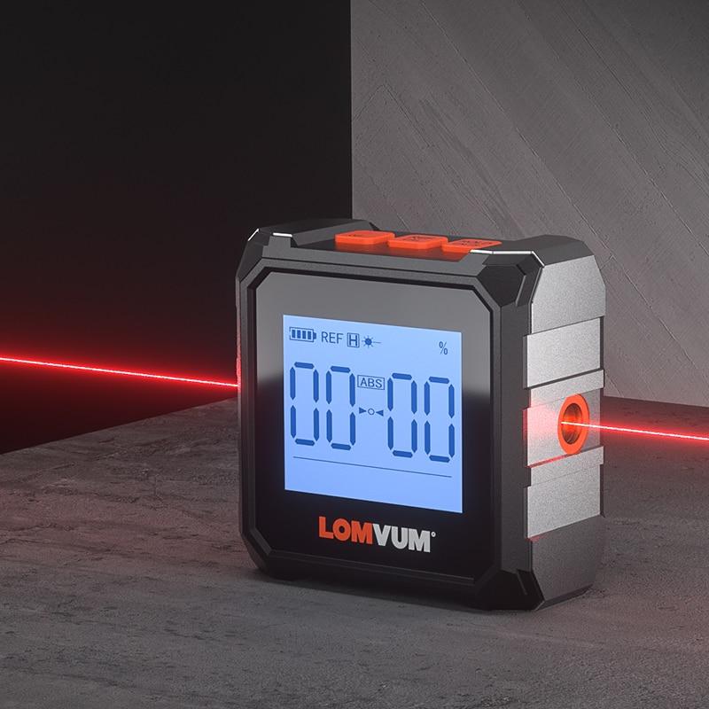 Tools : LOMVUM Digital Protractor Laser USB Inclinometer 360     Level Angle Finder High Precision Goniometer Magnet Tilt Measuring Tools
