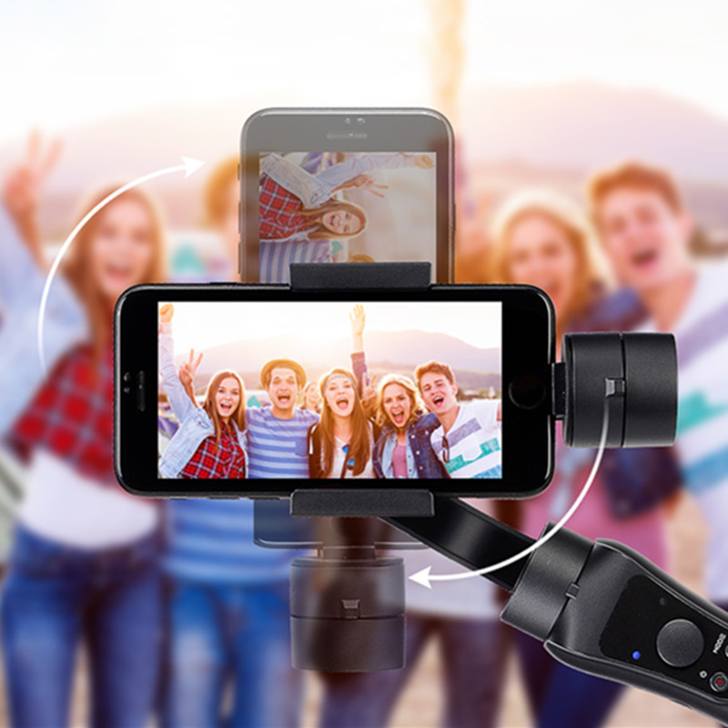 Estabilizador de cardán JABS estabilizador portátil de mano Suave 4 3 ejes H con enfoque para Smartphone y Cámara de Acción de vídeo grabación - 4