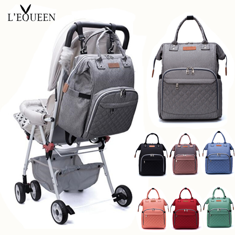 [Lequeen Official Store] Diaper Mummy Bag Baby Care Organizer Bag Waterproof Travel Maternity Patchwork Bag Nursing Backpack