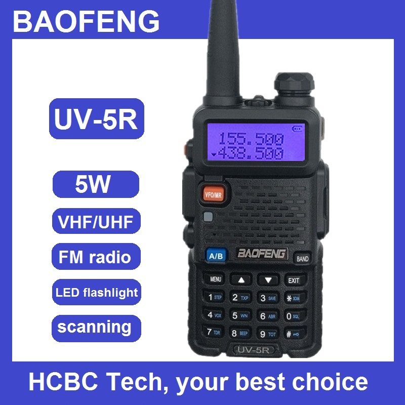 BAOFENG UV-5R Walkie Talkie Handheld Transceiver UHF VHF Dual Band Mobile Radio Amateur Woki Toki RF Transmitter Fishing Radio