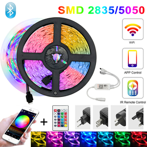 Bluetooth 5050 Led Strip Light RGB SMD 2835 Flexible Ribbon Waterproof WIFI LED Light 5M 10M 15M Tape Diode DC 12V for Room TV