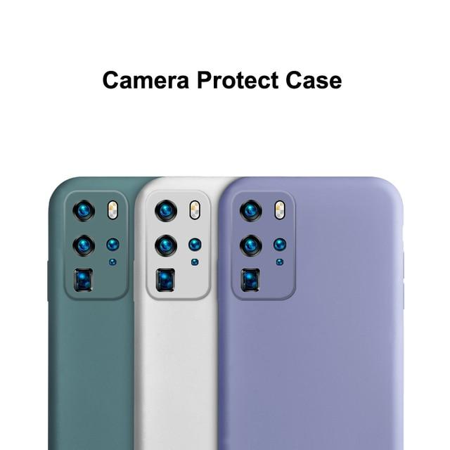 Liquid Silicone Case for Samsung Galaxy S20 Ultra Plus fan edition Camera S21 S 21 Cover Coque fundas  Sansung S20 fe Ultra Capa 3
