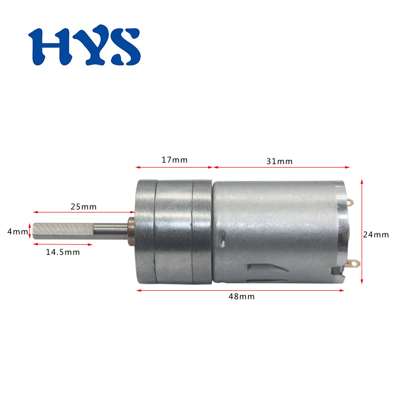 DC 6V 12V 24V Gear Mini Motor Shaft 25mm Reducer 12 Volt V Electric Micro Motors 16/26/58/280/1360rpm Metal Motor DC12V 25GA-370