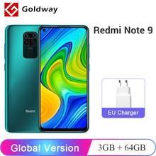 Versão global xiaomi redmi nota 9 3gb 64gb/4gb 128gb smartphone helio g85 octa núcleo 48mp quad câmera traseira 6.53