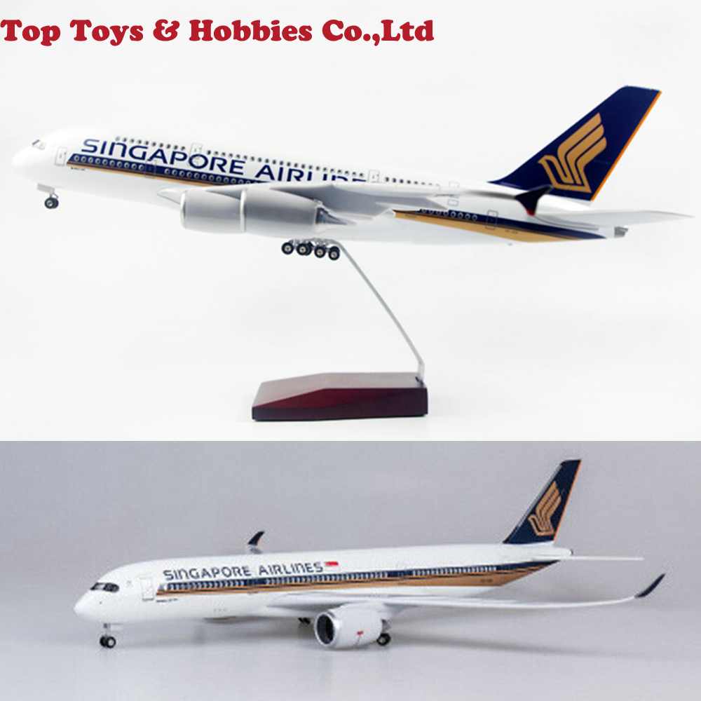 kids toys 1/142 Scale Passenger Plane Model Singapore Airlines A350 LED Aircraft Model Toy Plane Airforce Model