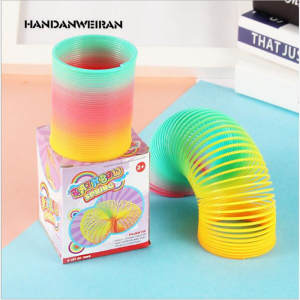 HANDANWEIRAN Toy Boys Childs Circle-Toy Magic-Spring Fun 1pcs Fou Stretching Rainbow