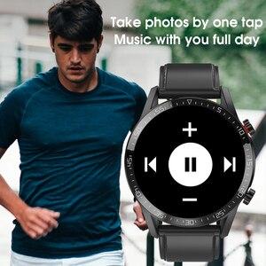 "Image 4 - חדש L13 חכם שעון גברים IP68 עמיד למים אק""ג PPG Bluetooth שיחת לחץ דם קצב לב כושר גשש ספורט Smartwatch"