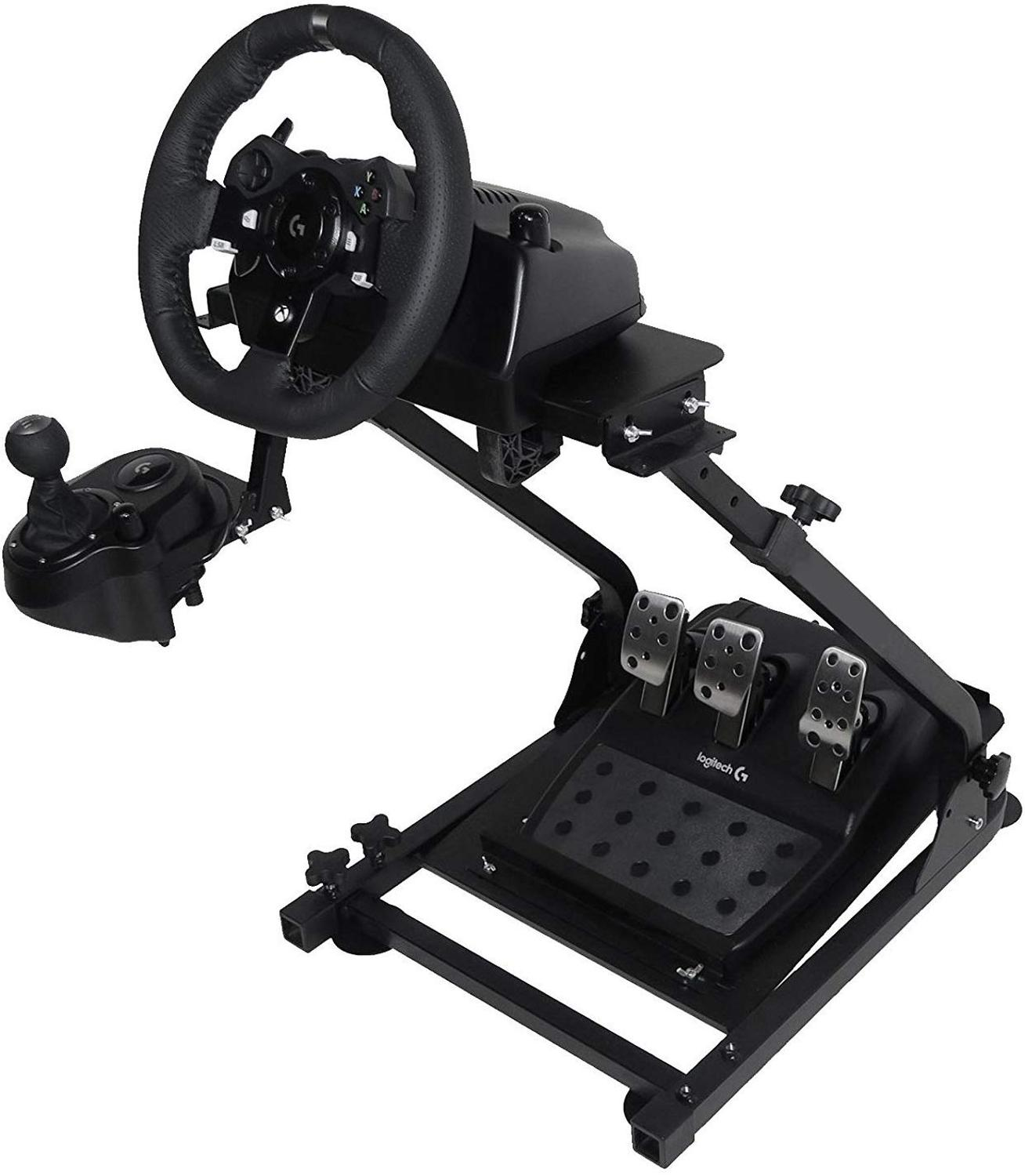 Free Shipping For EU USA  Self-Career Race Steering Wheel Support For Logitech G25 G27 G29 And G920 Folding Steering Wheel Stand