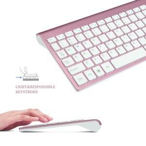 Image 3 - Jelly comb 2.4g sem fio teclado e mouse pente tamanho completo 102 teclas de baixo ruído usb teclado sem fio mouse para computador portátil