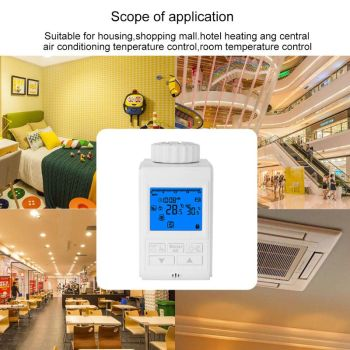 Programmable Thermostat Timer TRV Radiator Actuator Temperature Controller programmable thermostat timer trv thermostatic radiator valve actuator thermostat heater thermoregulator temperature controlling