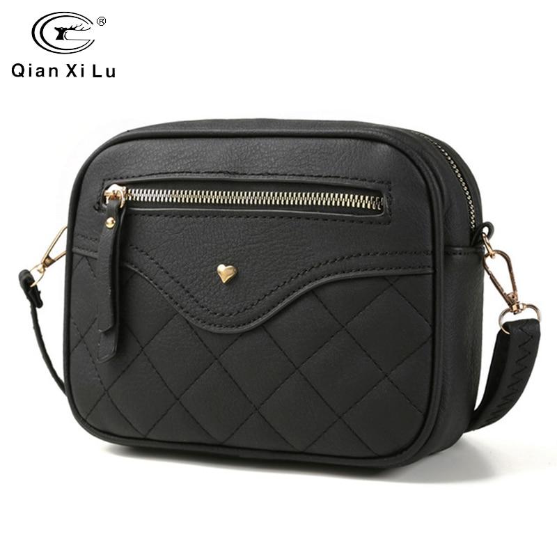QIANXILU Fashion Crossbody Bags For Women 2019 High Capacity Shoulder Bag PU Leather Handbag Female Zipper Messenger BagsShoulder Bags   -