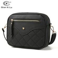 QIANXILU Fashion Crossbody Bags For Women 2019 High Capacity Shoulder Bag PU Leather Handbag Female Zipper Messenger Bags