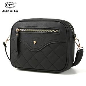 Image 1 - QIANXILU Fashion Crossbody Bags For Women 2019 High Capacity Shoulder Bag PU Leather Handbag Female Zipper Messenger Bags