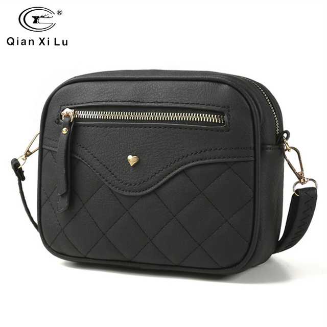 QIANXILU Fashion Crossbody Bags For Women 2019 High Capacity Shoulder Bag PU Leather Handbag Female Zipper Messenger Bags