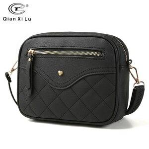 Image 1 - QIANXILU moda kadınlar için Crossbody çanta 2019 yüksek kapasiteli omuzdan askili çanta PU deri çanta kadın fermuar postacı çantası