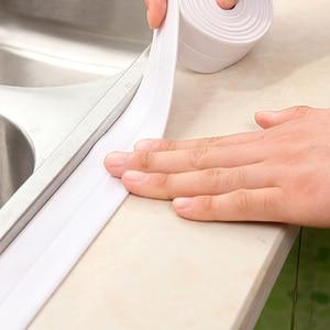 PVC Material Kitchen Bathroom Wall Sealing Tape Waterproof Mold Proof Adhesive Tape 3.2mx2.2cm/3.2mx3.8cm Repair Mildew Tape(China)