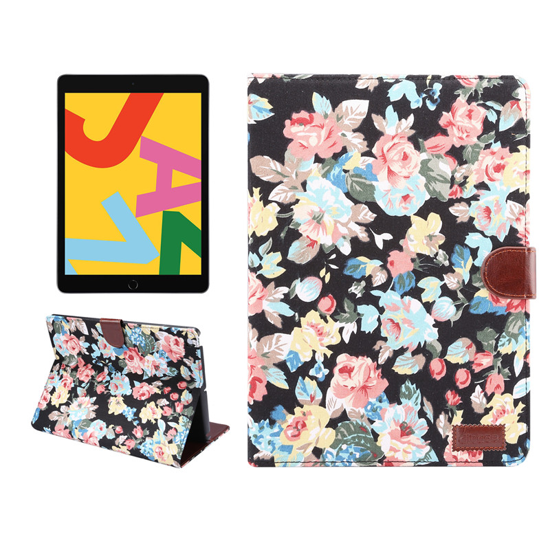 Cover For For iPad Case Apple iPad Stand Smart 2019 Skin A2198 Shell Painted Flowers A2200 Generation Funda A2232 7th 10.2
