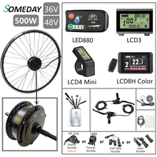 SOMEDAY 36V/48V 500W Electric Bicycle Conversion KIt 16''-29'' 700C Brushless Gear Rear Rotate Hub Motor Wheel for Electric Bike mxus xf07 250w 24v 36v 48v front wheel brushless gear hub motor electric bicycle conversion kit 26 28inch 700c bike drive part