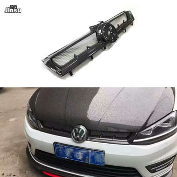 цена на Aspec style real carbon fiber front bumper grille For vw golf 7 2013 - 2019 MK7 Racing styling front air intake grill